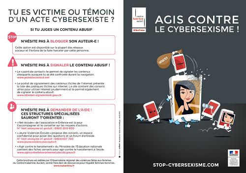 Dépliant Agis contre le cybersexisme!